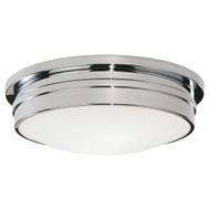 "Roderick 17"" Dia Flush Mount - Polished Chrome"