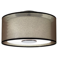 Saturnia Semi-Flush Mount - Deep Patina Bronze
