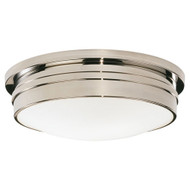 "Roderick 17"" Dia Flush Mount - Polished Nickel"