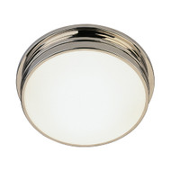 "Roderick 13.5"" Dia. Flush Mount - Polished Nickel"