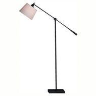 Real Simple Boom Floor Lamp - Matte Black Powder Coat