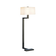 "Doughnut ""C"" Floor Lamp - Deep Patina Bronze"