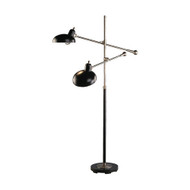 Bruno Adjustable Double Arm Floor Lamp - Lead Bronze