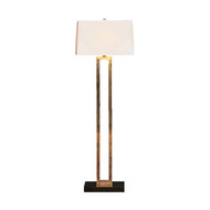 Doughnut Floor Lamp - Natural Brass