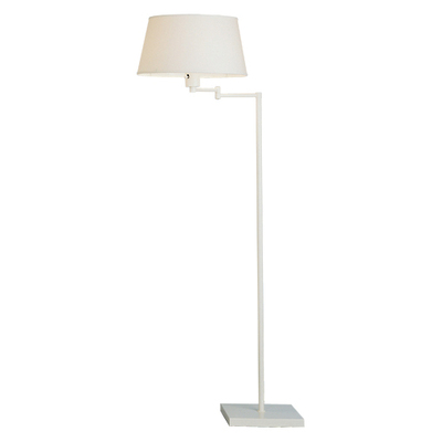 Real Simple Swing Arm Floor Lamp - Stardust White Powder Coat