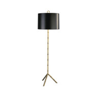 Jonathan Adler Meurice Floor Lamp - Antique Natural Brass