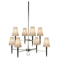 Jonathan Adler Ventana 2 Teir Chandelier - Ebonyed Wood https://cdn3.bigcommerce.com/s-nzzxy311bx/product_images//w/ Polished Nickel