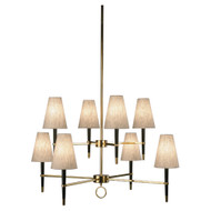 Jonathan Adler Ventana 2 Teir Chandelier - Ebonyed Wood https://cdn3.bigcommerce.com/s-nzzxy311bx/product_images//w/ Antique Brass