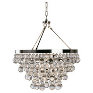 Bling Chandelier - Double Canopy - Polished Nickel
