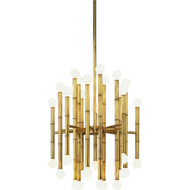 Jonathan Adler Meurice 30 Light Chandelier - Antique Natural Brass