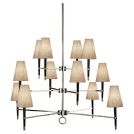 Jonathan Adler Ventana 3 Teir Chandelier - Ebonyed Wood https://cdn3.bigcommerce.com/s-nzzxy311bx/product_images//w/ Polished Nickel
