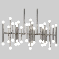 Jonathan Adler Meurice Rectangular Chandelier - Polished Nickel