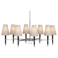 Jonathan Adler Ventana Oval Chandelier - Ebonyed Wood https://cdn3.bigcommerce.com/s-nzzxy311bx/product_images//w/ Polished Nickel