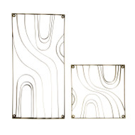 Metal Wood Grain Panel