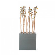 Birch Poles with Gold & Silver Cubhttps://cdn3.bigcommerce.com/s-nzzxy311bx/product_images//e/ Pivot Wall Play in Pewter Fiberglass Planter