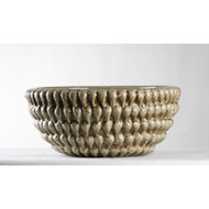 Grey Stitch Bowl