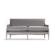 Louis Sofa - Grey Linen and Limed Grey Oak