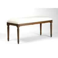 Lille Bench - Cotton and Traditional Oak