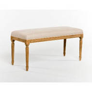 Lille Bench - Natural Linen and Natural Oak