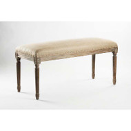 Lille Bench - Hemp Linen and Limed Grey Oak