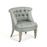 Amelie Slipper Chair - Sage Linen and Birch