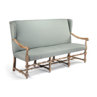 Franck Bench - Sage Linen and Limed Grey Oak