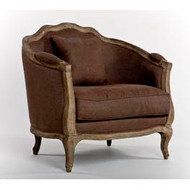 Maison Love Chair - Aubergine Linen and Limed Grey Oak