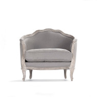 Maison Love Chair - Grey Linen and Limed Grey Oak