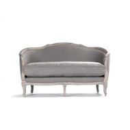 Maison Settee - Grey Linen and Limed Grey Oak