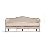 Maison Sofa - Hemp Linen and Limed Grey Oak