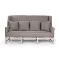Aubert Sofa - Aubergine Linen and Limed Grey Oak