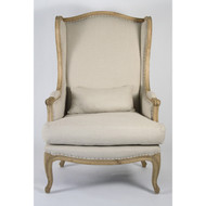 Leon Chair - Natural Linen and Natural Oak