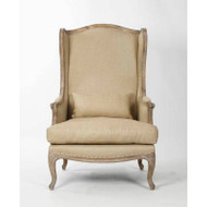 Leon Chair - Hemp Linen and Limed Grey Oak