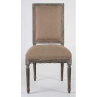 Louis Side Chair - Copper Linen and Limed Charcoal Oak