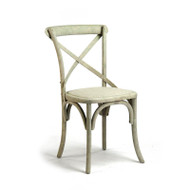 Parisienne Cafe Chair - Distressed Off White