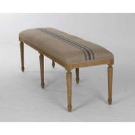 Louis Blue Striped Bench