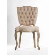 Piaf Side Chair - Hemp Linen and Limed Grey Oak