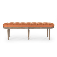 Michel Tufted Bench - Orange Linen