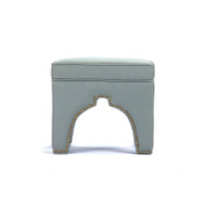 Marnix Cubic Stool - Sage Linen