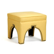 Marnix Cubic Stool - Yellow Linen