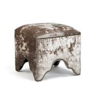 Willem Cubic Stool - Silver Velvet or Crushed Velvet