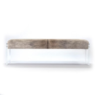 Acrylic & Hide Bench