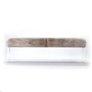 Acrylic & Hide Bench