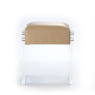 Acrylic Vanity Stool - Flax Outback