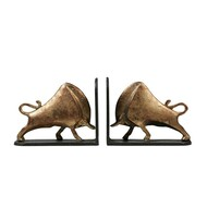 Bisoni Bookends (Pair), Gold