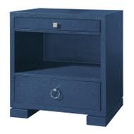 Frances 2-Drawer Side Table, Navy Blue
