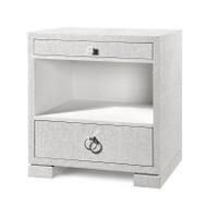 Frances 2-Drawer Side Table, White