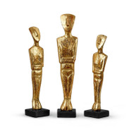 Lais Statues - Set Of 3 Statues, Gold
