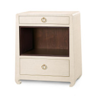 Ming 2-Drawer Side Table, Natural