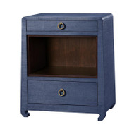 Ming 2-Drawer Side Table, Blue